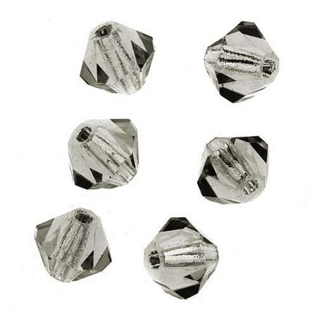 Preciosa Czech Crystal Bicones Glass Beads 4mm 'Black Diamond' (50)