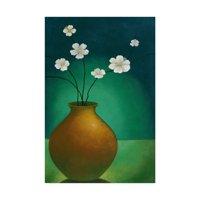 Trademark Fine Art 'Small Floral Vase 4' Canvas Art by Pablo Esteban