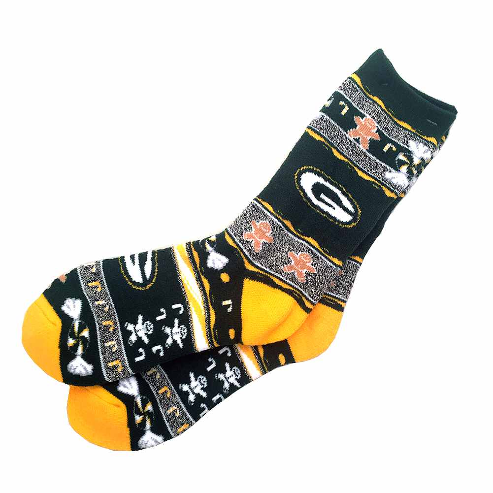 NFL Green Bay Packers Ugly Xmas Socks [Men's Large]
