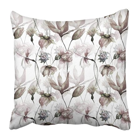 Erehome Abstract Floral Watercolor Bloom Blossom Branch Daisy Dandelion Drawing Flower Pillow Case Cushion Cover 20x20 Inch Walmart Canada