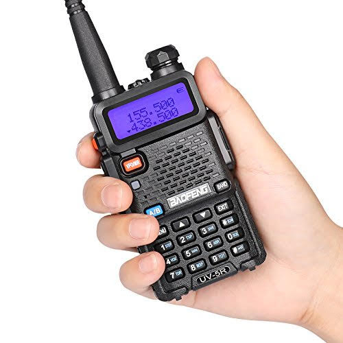 BAOFENG UV-5R VHF/UHF Dual Band Radio 136-174/400-520MHz + Free Earpeice Desktop Charger T-Mack Car interphone 128 Channels Built-in VOX Function