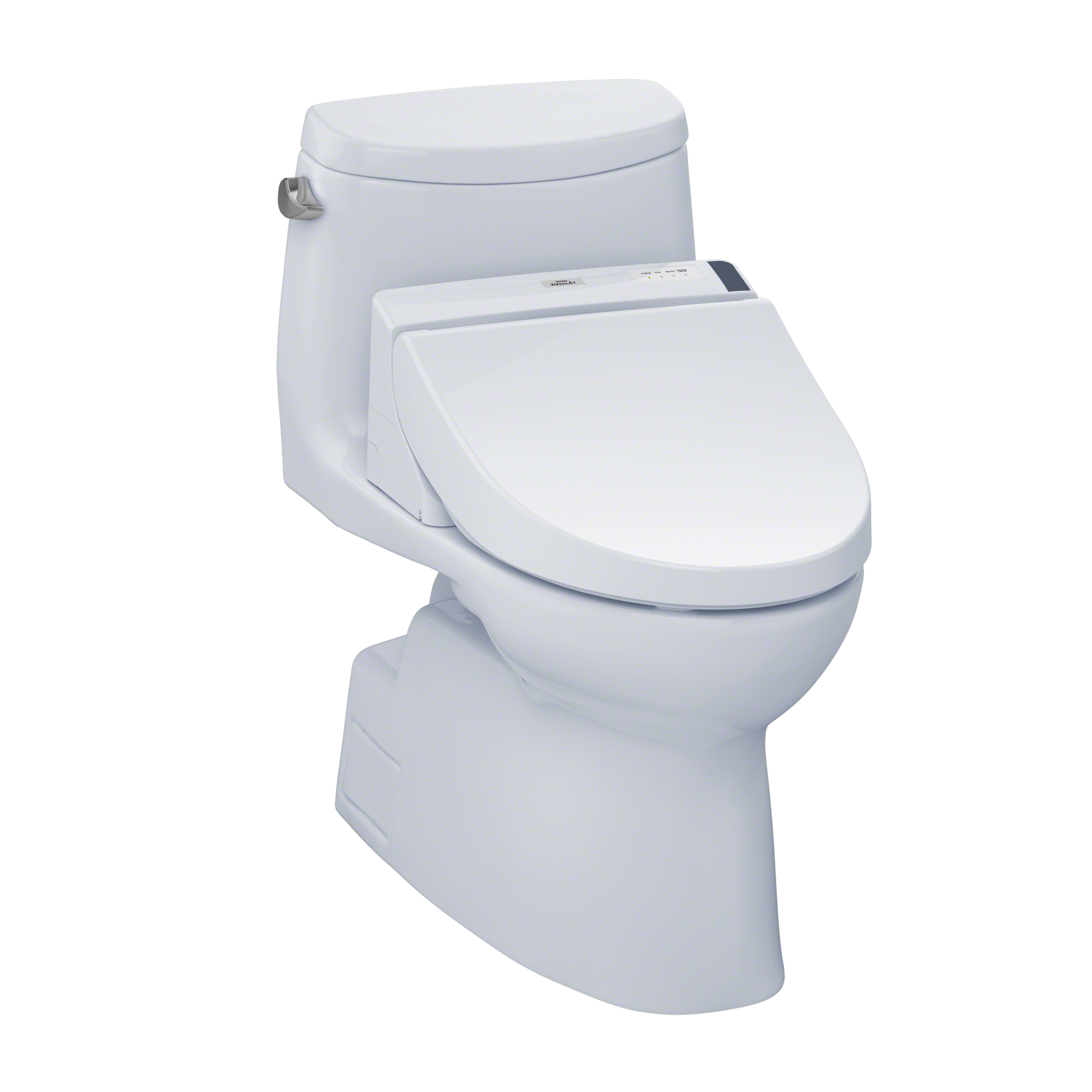 TOTO® Connect+® Kit Carlyle® II One-Piece Elongated 1.28 GPF Toilet and Washlet® C200 Bidet Seat, Cotton White - MW6142044CEFG#01