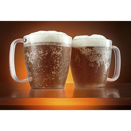 Modern Innovations 15 OZ SAN Mug Set of 4 Restaurant Quality Dishwasher Safe, Shatterproof... by