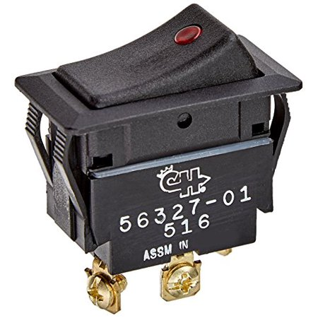 Cole Hersee Weather Resistant SPST 2-Position Off/On Rocker Switch with Dependent Pilot (Cole Hersee Rocker Switch)