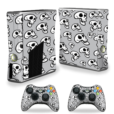 MightySkins Protective Vinyl Skin Decal for Xbox 360 S Slim + 2 controllers Case wrap cover sticker skins Laughing Skulls