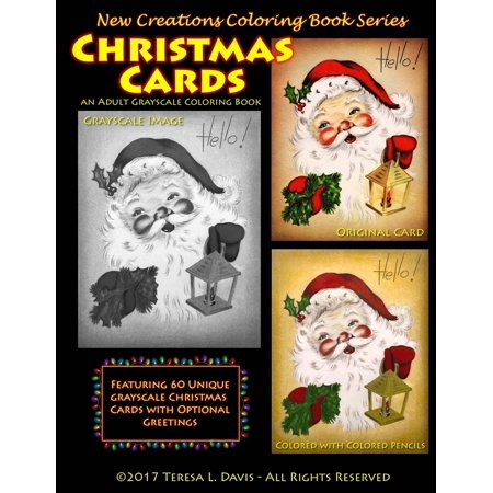 new creations coloring book series christmas cards