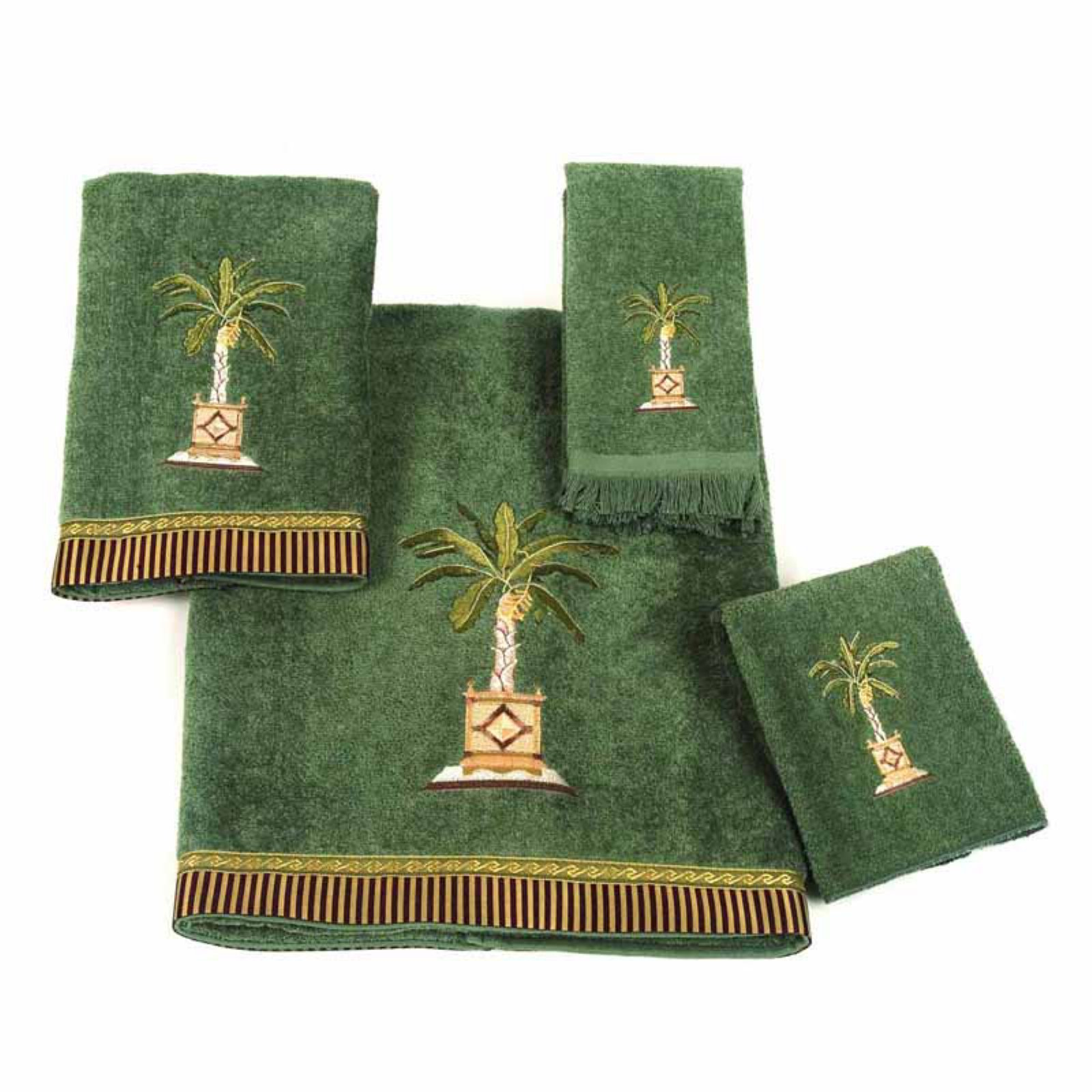 Avanti Linens Banana Palm 4-Piece Towel Set