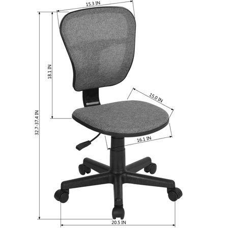 FurnitureR Task Chair wivel Adjustable Mesh Office Chair - image 3 of 5