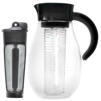 Primula Flavor Up Airtight Cold Brew Iced Coffee Maker with Fruit Infusion Core for Infused Beverages, Dishwasher Safe, 2.7Qt, Black