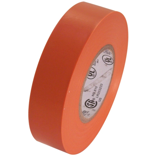 """Orange Electrical Tape 3/4"""" x 66 ft Roll 7 mil"""
