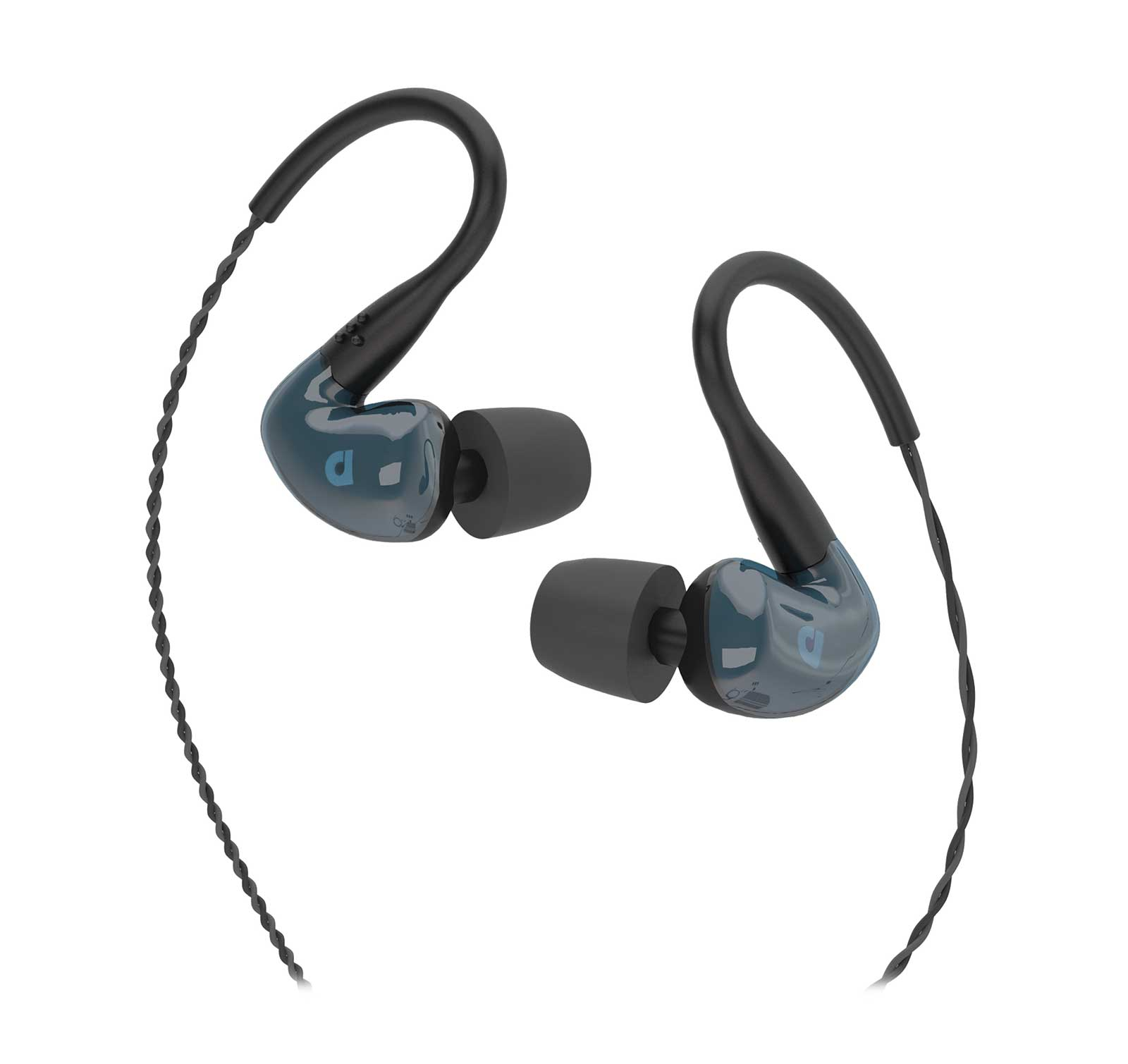 Audiofly AF180 Stone Blue Hybrid Four Driver Universal In-Ear Monitor Headphones