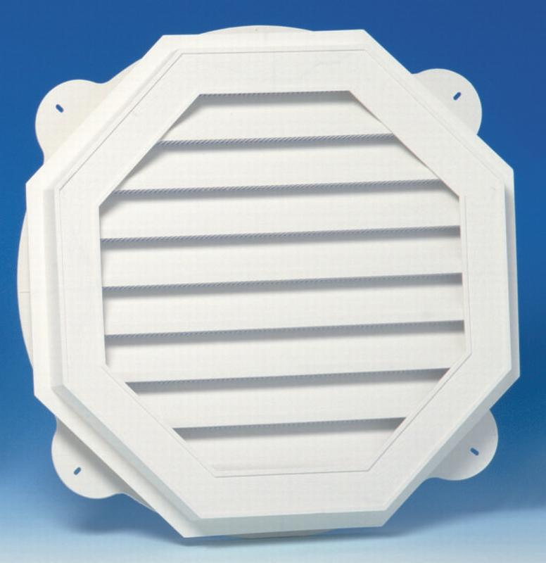 Canplas 626060-00 Octagon Gable Vent, 58 sq-in, Polypropylene