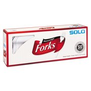Heavyweight Plastic Cutlery, Forks, White, 6.41 in, 500/Carton