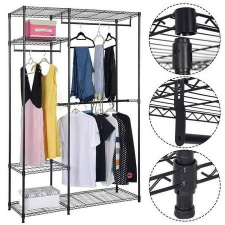 Ktaxon Portable Clothes Wardrobe Garment Rack Home Closet Hanger Storage Organizer