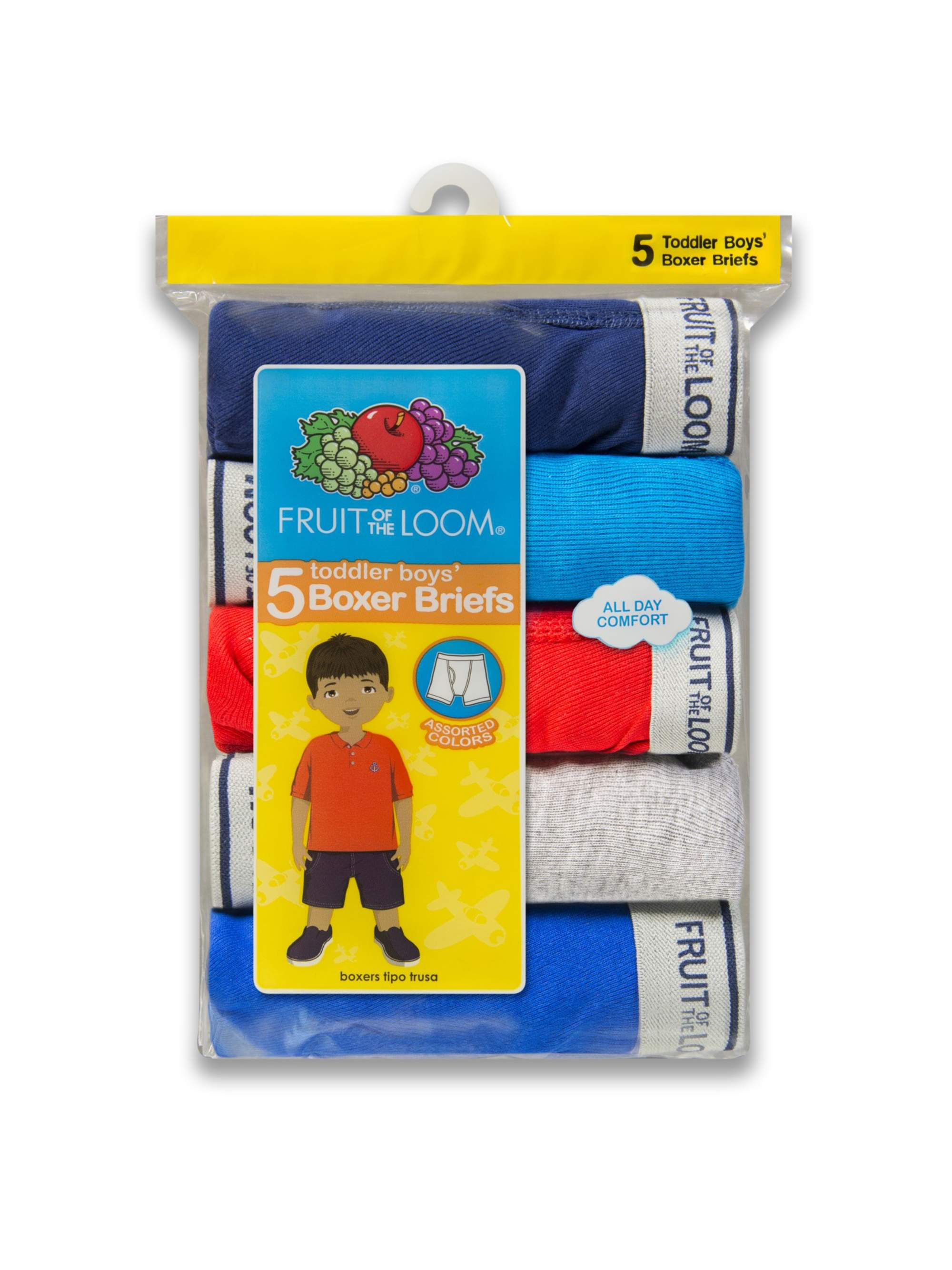 Assorted Cotton Boxer Briefs, 5 Pack (Toddler Boy)