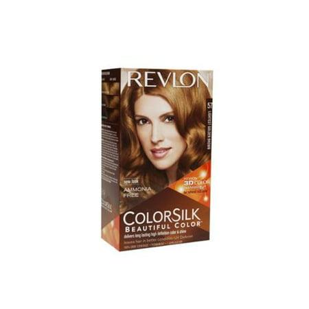 Revlon ColorSilk Beautiful Color Permanent Hair Color, 57 Lightest Golden Brown 1 Each (Pack of 2) - Walmart.com