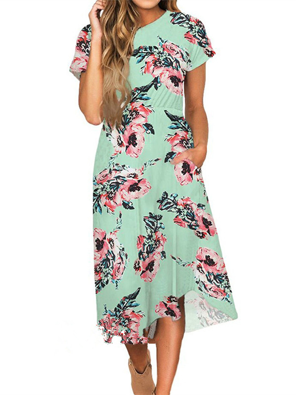Floral Knee Length Dresses