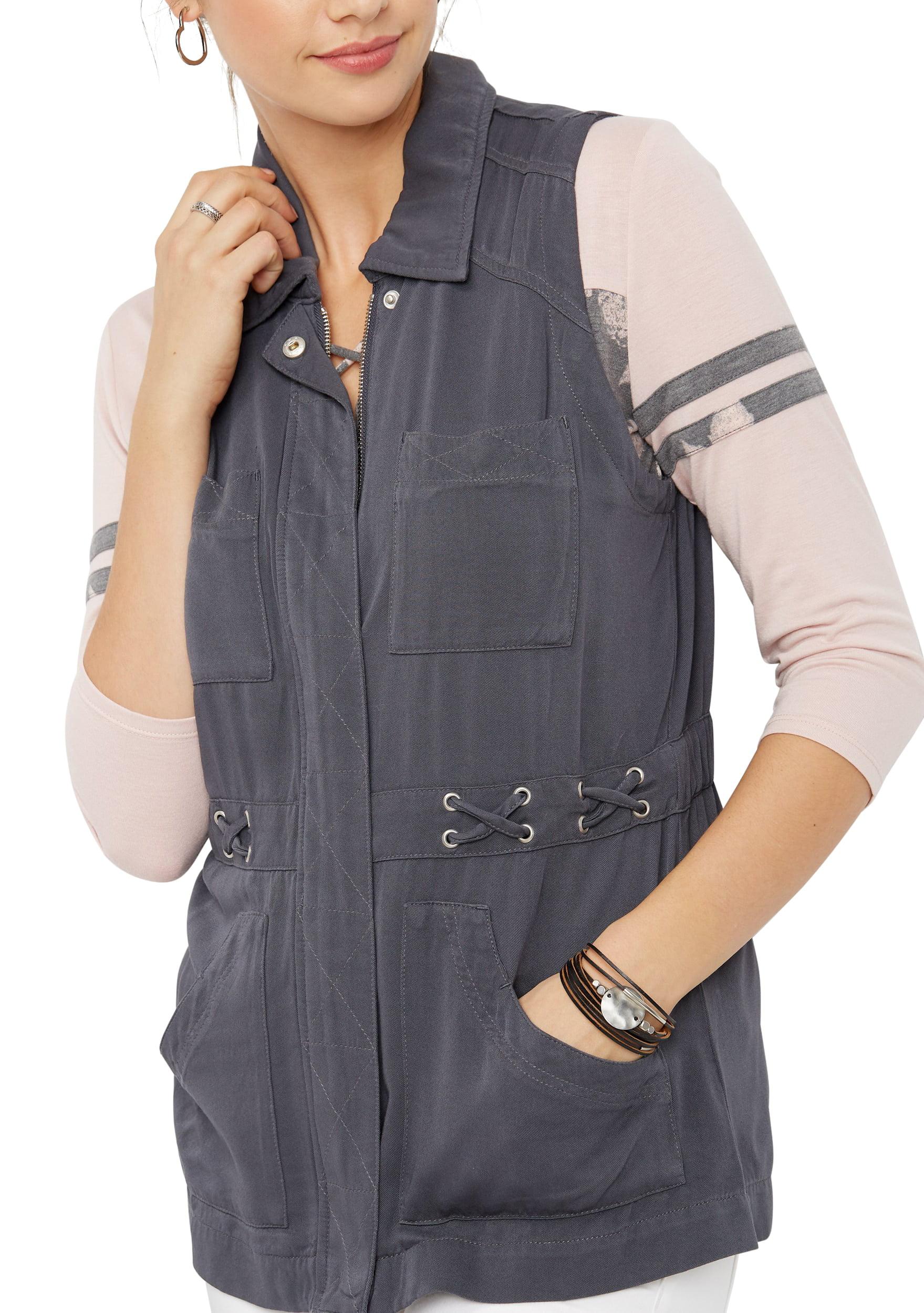 Zip Up X-Waist Vest