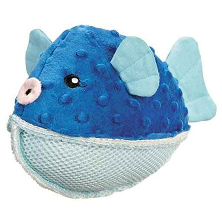 Aquadudes Dog Toy Ocean Friends Choose Creature or Set of Pufferfish Seal & Crab(Puffer Fish)