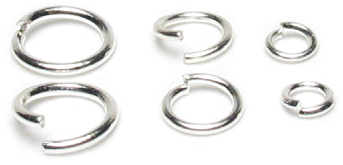 Jewelry Basics Metal Findings 300//pkg-silver Jump Rings 6mm