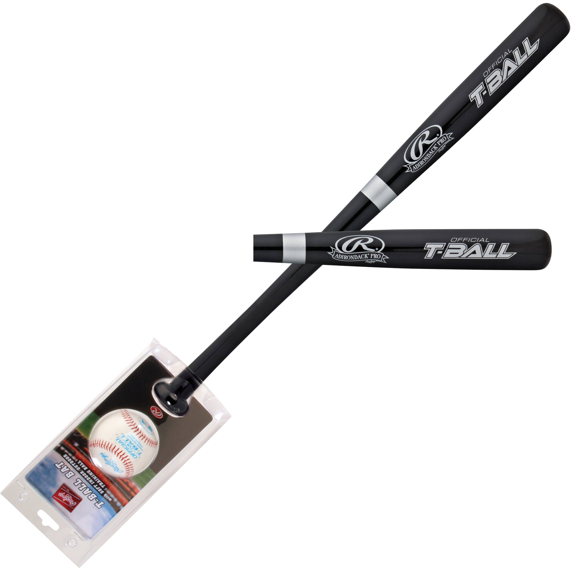 Rawlings Baseball Wood Bat and Ball Combo Set WBTBC