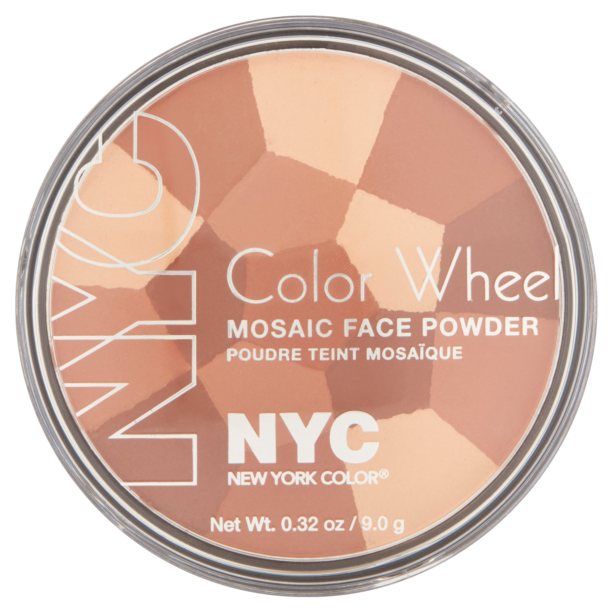 York Color Wheel Mosaic Face Powder, All Over Bronze Glow, 0.32 Ounce