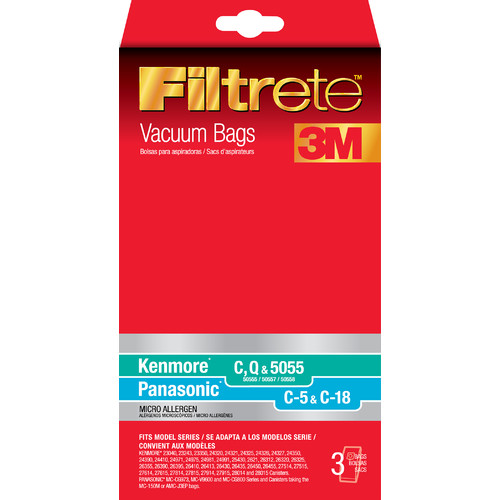 Eureka Kenmore and Panasonic Filtrete Vacuum Bags (Set of 3)