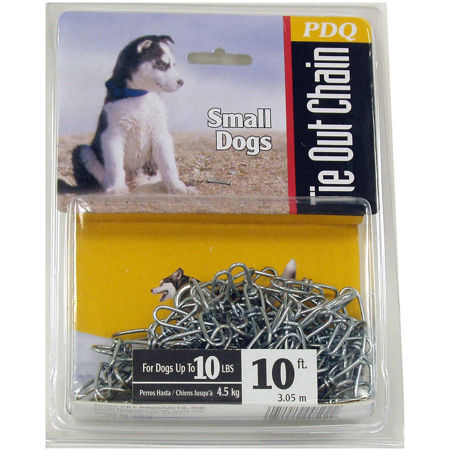 Boss Pet 53010 10' Small Dog Swivel Chain Tie-Out