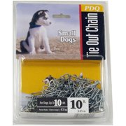 Boss Pet 53010 10` Small Dog Swivel Chain Tie-Out