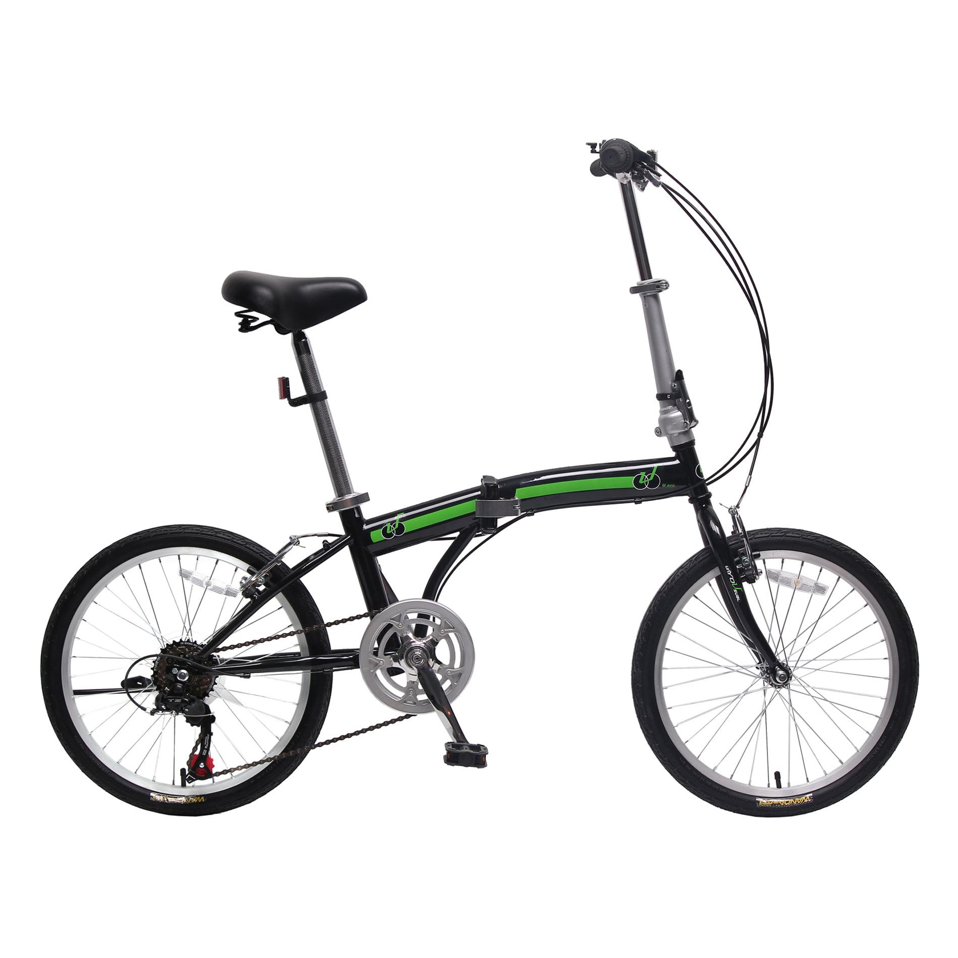 Unyousual U Arc 20 Inch 6 Speed City Folding Compact Bike Foldable