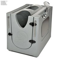 Pet Wash Enclosure with Splash Guard & Wheels