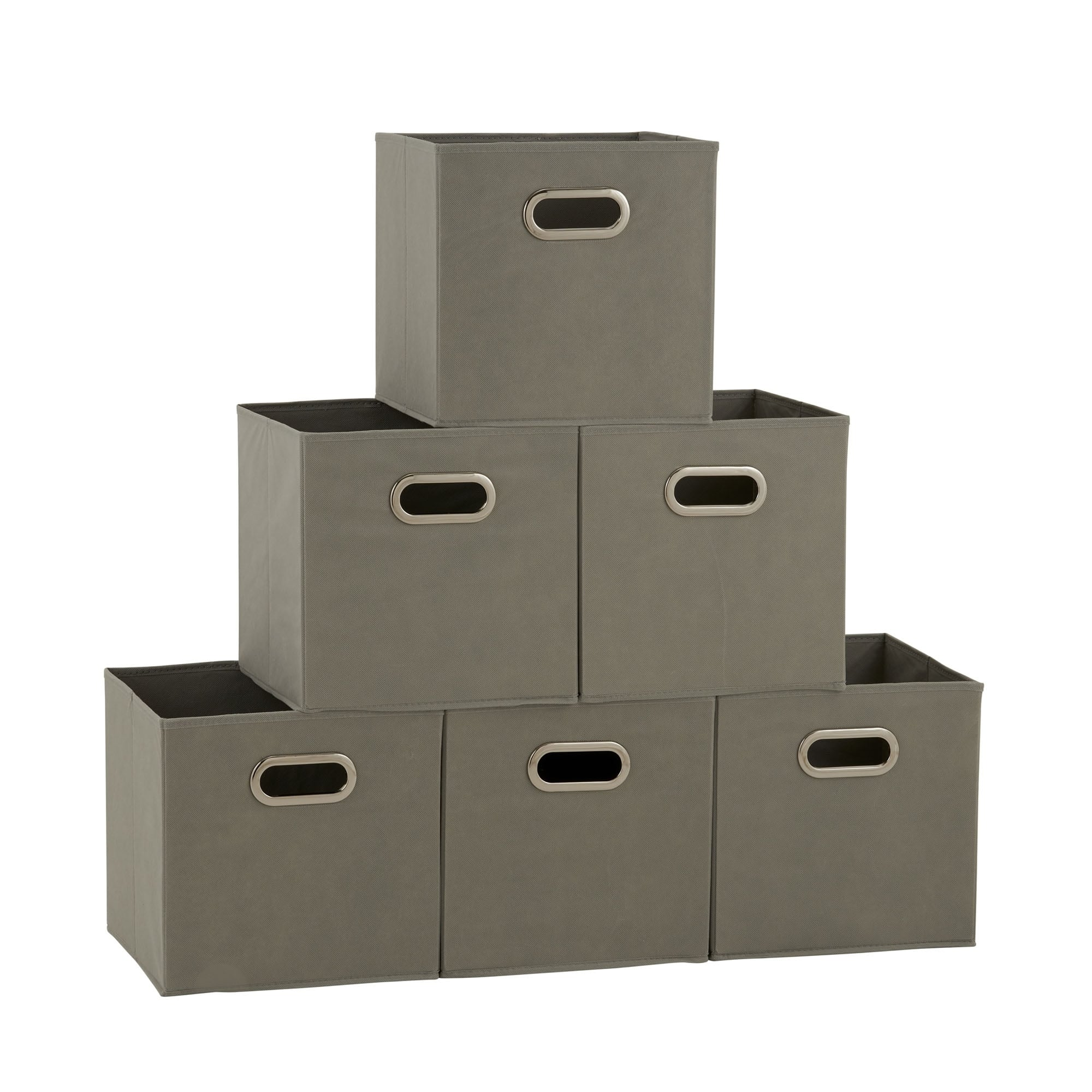 Product Image Household Essentials Open Fabric Storage Cube Bins, Set Of 6,  Teafog