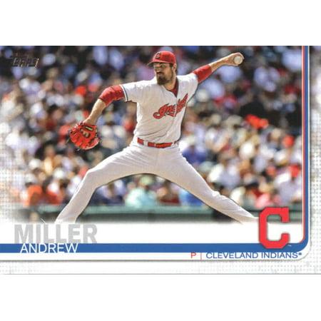 2019 Topps #293 Andrew Miller Cleveland Indians Baseball Card - (Miller Signed Baseball)