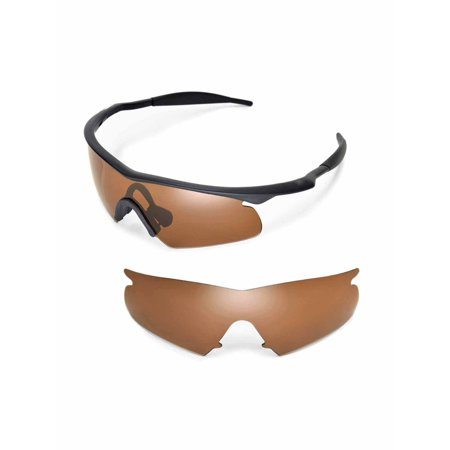 b0960f2e36f Walleva - Walleva Brown Polarized Replacement Lenses For Oakley M Frame  Hybrid Sunglasses - Walmart.com