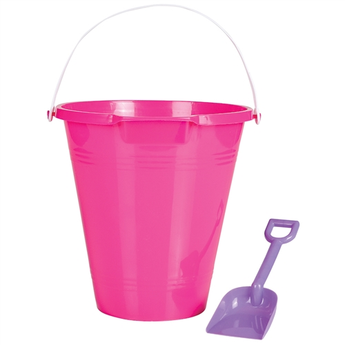 Beach Pail with Shovel Pink by