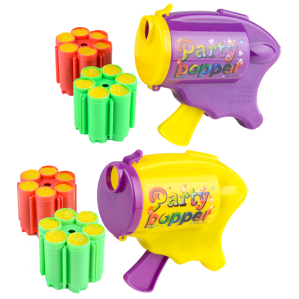 "Rinco Party Popper Confetti Streamer Shooter Gun 4"" Party Favor"