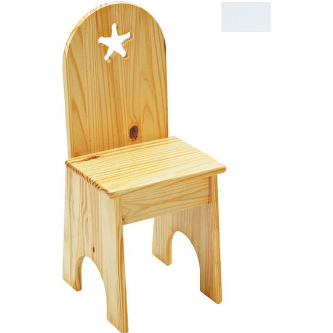Little Colorado 022SWST Solid Back Star Kids Chair in Solid White