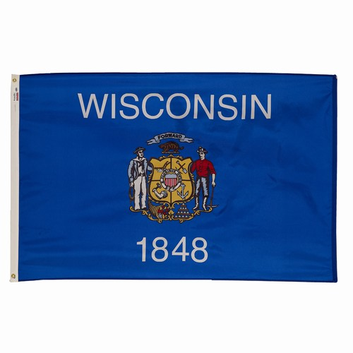 2x3 Wisconsin State Flag Made In The USA