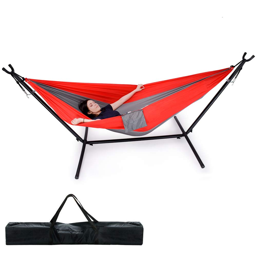 Camping Hammock Lightweight Portable Parachute Nylon Hammock Set for Indoor and Outdoor