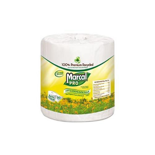 100% Premium Recycled Bathroom Tissue, 48 Rolls/Carton