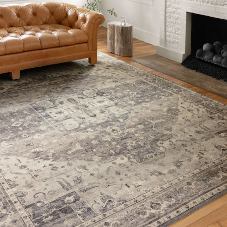Image of Loloi Harlow Blue/Green/Ivory 2 ft 6 inch x 9 ft 9 inch Area Rug Olive / Denim