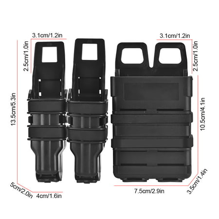 Naccgty Tactic Molle Holster Magazine Bag Rifle Pistol Mag Pouch Set for Military Hunting Game, Molle Military Pouch, Magazine Pouch 6 Mag Pouch