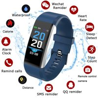 New Color Screen Smart Bracelet Watch 115 Plus Blood Pressure Monitoring Heart Rate Monitoring Smart Wristband Fitness Band