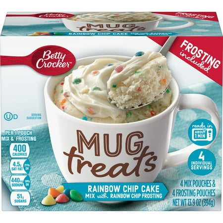 (6 Pack) Betty Crocker Mug Treats Rainbow Chip Cake