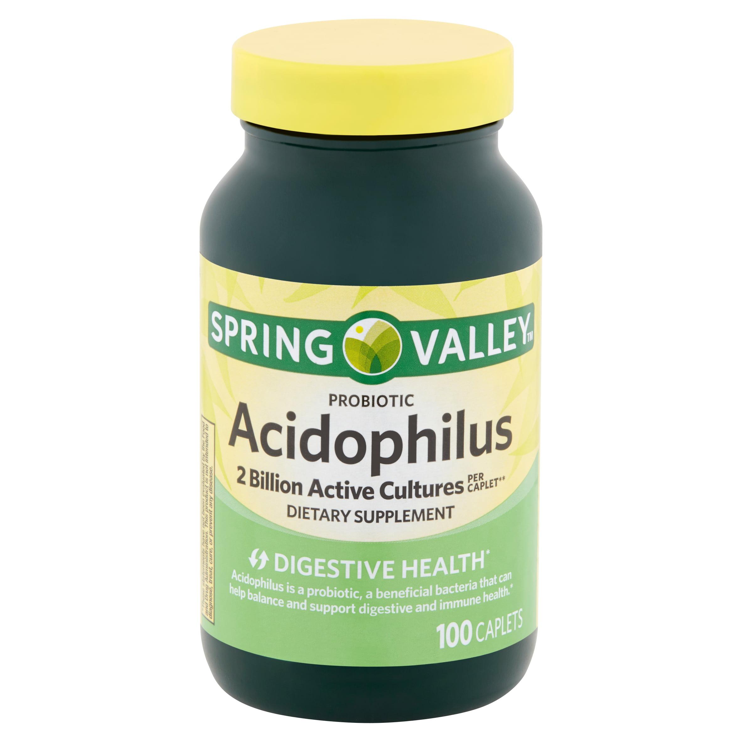 Spring Valley Probiotic Acidophilus Caplets, 100 count