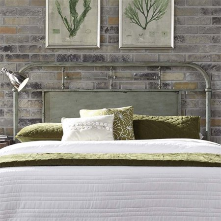 Liberty Furniture Vintage Twin Metal Headboard in Distressed Green ()