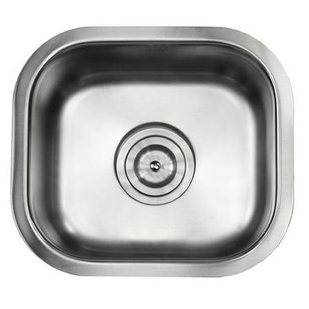eModern Decor Ariel Pearl 13'' L x 15'' W Stainless Steel Undermount Single Bowl Kitchen / Bar / Prep Sink