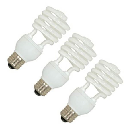 Satco Compact - Satco 06276 - 23T2/E26/5000K/120V/3PK S6276 Twist Medium Screw Base Compact Fluorescent Light Bulb