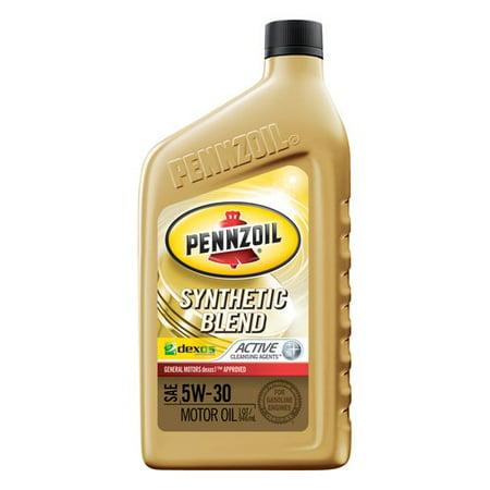 Pennzoil 5W30 Synthetic Blend Dexos Motor Oil  1 Quart