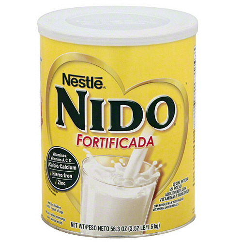 Nido Fortificada Whole Milk Powder with Added Vitamins and Minerals, 56.3 oz, (Pack of 6) by